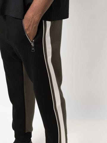 Sporty trousers in two-tone design