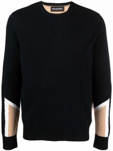 Color-block design sweater
