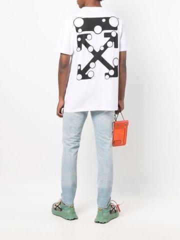 White T-shirt with Arrow print