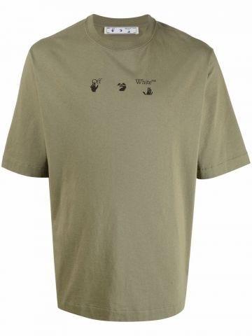 Arrows-print logo T-shirt