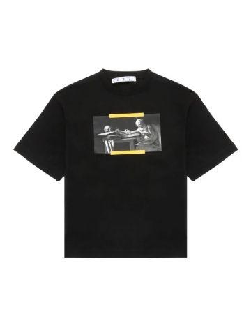 Black Caravaggio printed T-shirt