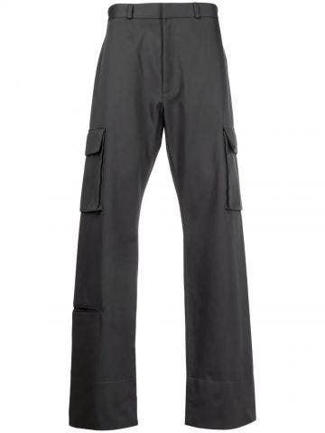 Gray cargo pants