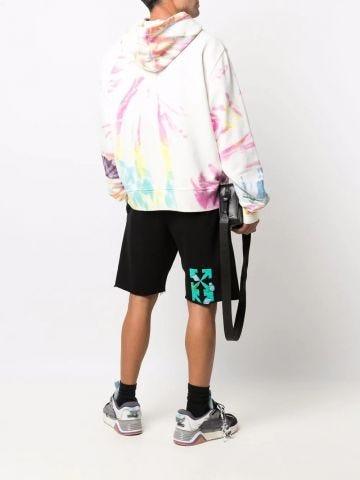 Black Tornado Arrows print shorts