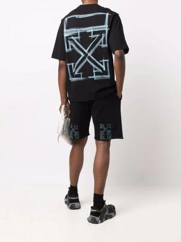 Black Arrows print shorts