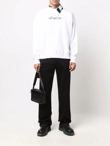 Black logo sport pants