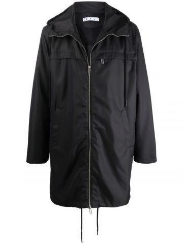 Black raincoat