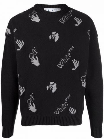 Black sweater with logo