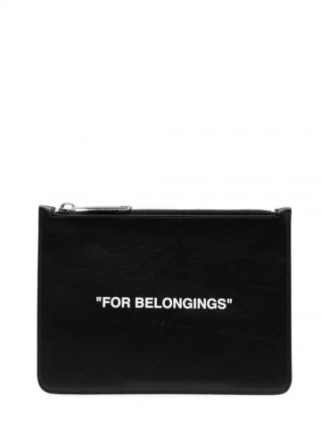 Black Quote Pouch