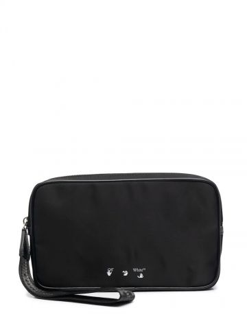 Black logo pouch