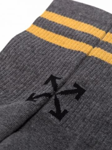 Grey Striped Socks