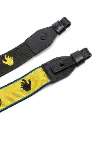 Reversible logo bag strap