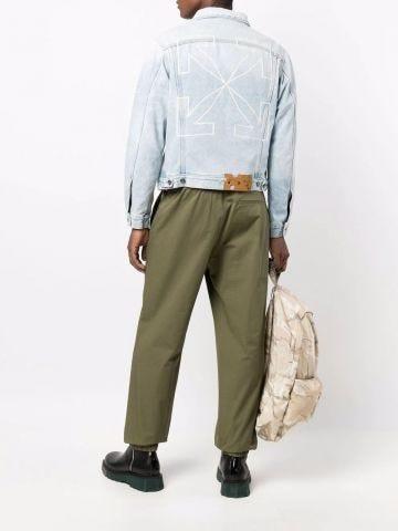 Denim jacket with Arrows print