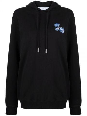 Arrows black floral sweatshirt