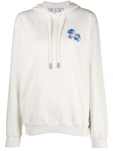 Arrows white floral sweatshirt