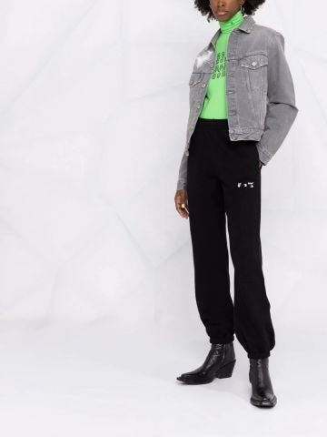 Black cotton sport pants