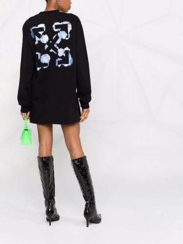 Black Arrows floral sweatshirt dress