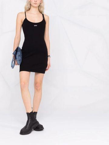 Black logo short dress