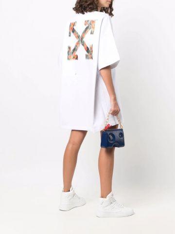 White Arrows pattern T-shirt dress