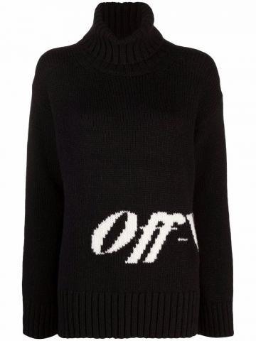 Black intarsia sweater