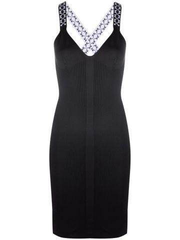 Black Arrows dress with crossed straps