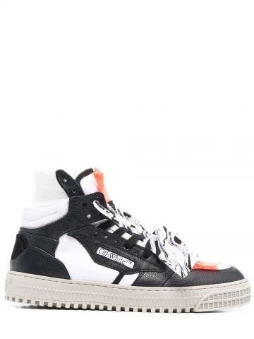 High-top black leather Off-Court 3.0 sneakers