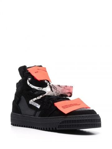Black leather Off-Court 3.0 sneakers