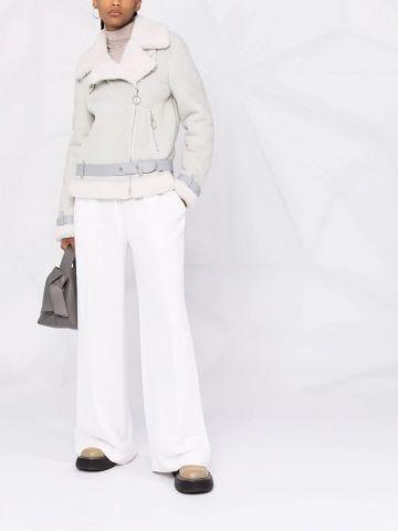 Grey wide lapel jacket
