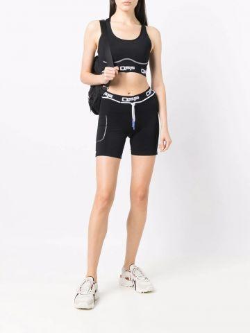 Black Active logo athletic shorts