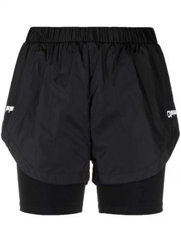 Black Active logo sport shorts