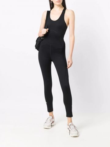 Black Active Logo fitted jumpsuit