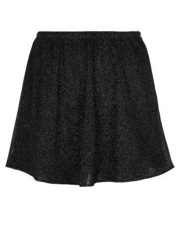 Black Lumière wrap skirt