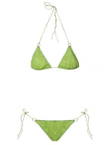 Lime green Lumière Microkini ring bikini