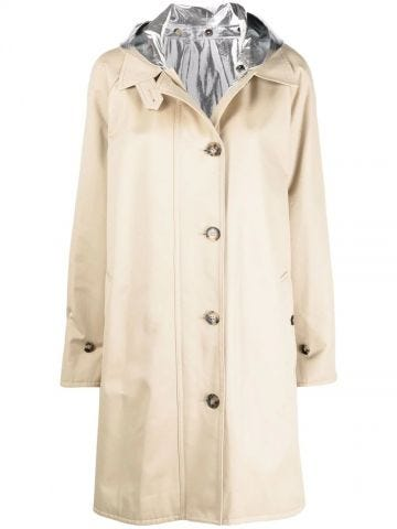 Beige Parka with buttons