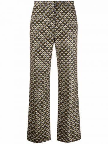 Pantaloni con stampa multicolore