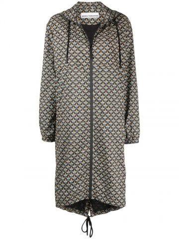 Geometric pattern raincoat