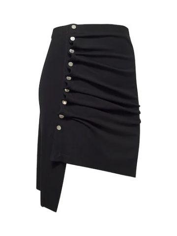Black lightweight jersey mini skirt