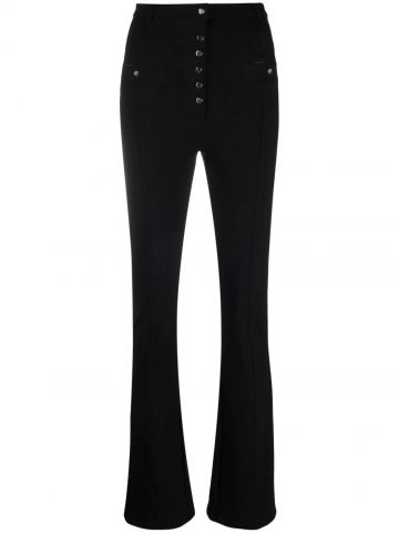 Pantaloni neri a vita alta