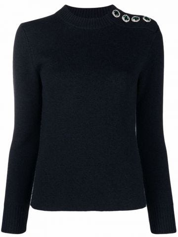 Blue jumper with gem detail