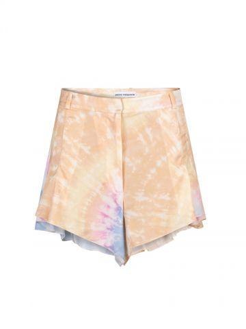 Satin printed shorts