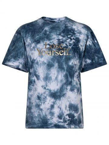 T-shirt con stampa tie-dye