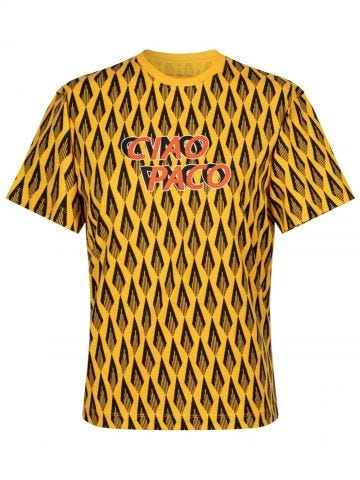 Yellow T-shirt with Ciao Paco print