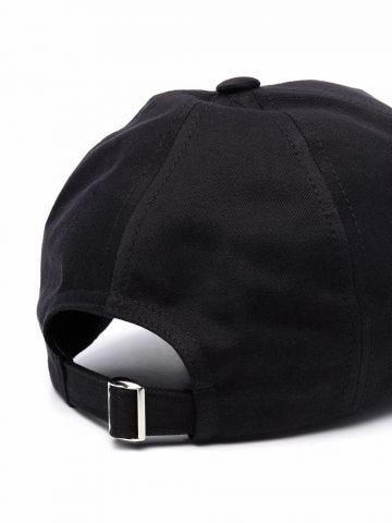 Paco Rabanne x Kimura Tsunehisa black cotton slogan-embroidered cap