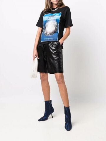 Paco Rabanne x Kimura Tsunehisa black graphic-print organic-cotton T-shirt