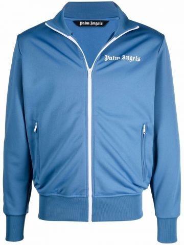 Blue track jacket with logo