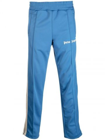 Blue track pants with logo