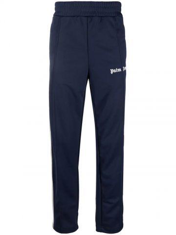 Pantaloni tuta blu scuro con logo