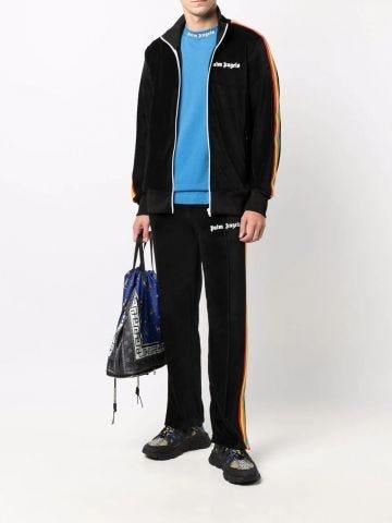 Pantaloni tuta nero rainbow