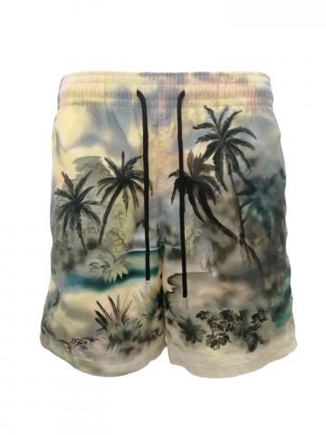 Costume Palm Angels x Vilebrequin multicolore con stampa Palme