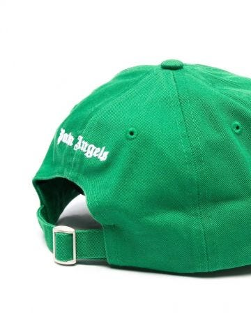 Green embroidered logo cap