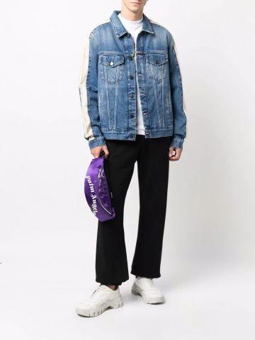 Giacca di jeans a righe blu